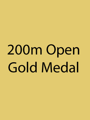 200m Open - Gold Medal